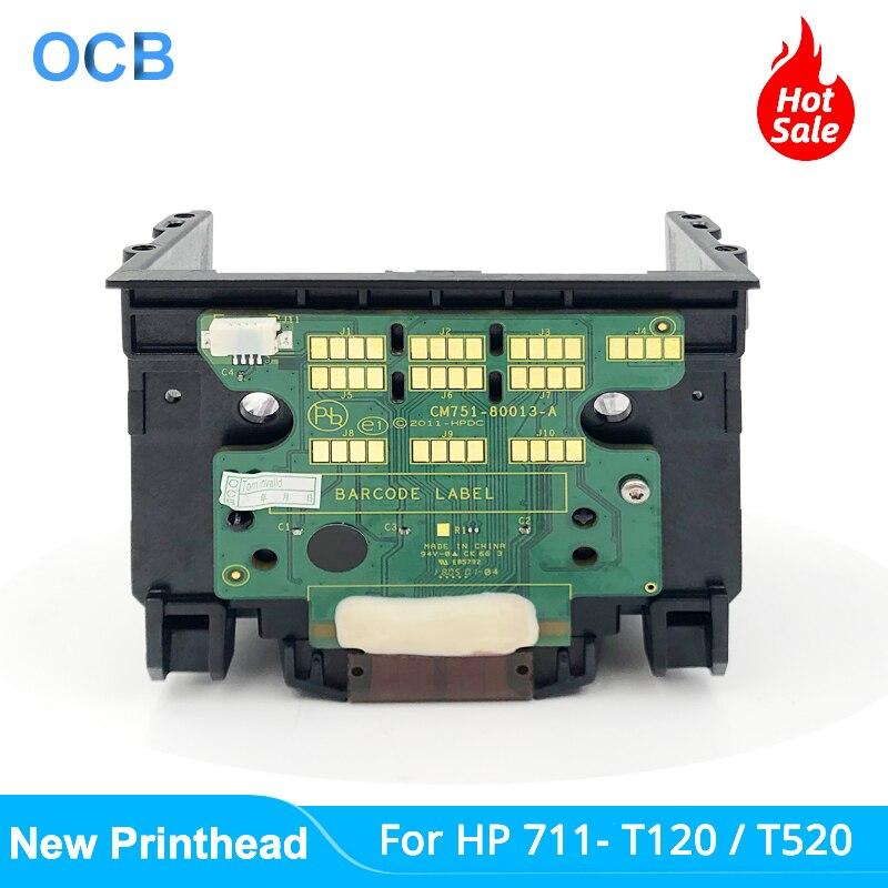رأس طباعة جديد طراز C1Q10A لـ HP 711 HP711 لـ طابعة تصميم إتش بي رأس طابعة T120 T125 T130 T520 T525 T530 (بدون حامل)