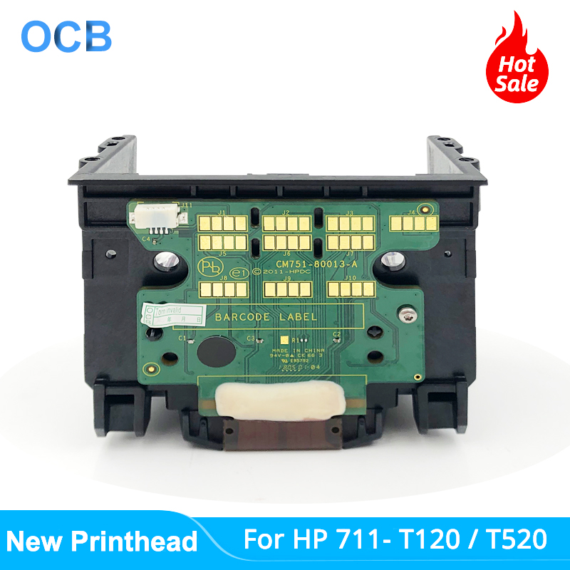 New C1Q10A For HP 711 HP711 Printhead Print Head For HP DesignJet T120 T125 T130 T520 T525 T530 Printer Head (Without Holder)(China)