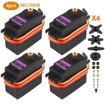 Wholesale Quick delivery 4PCS MG996R MG995 Metal Gear Digital RC Servo Motor High Torque Helicopter Car Boat for RC Truck Racing