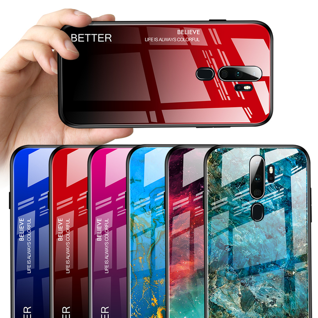For OPPO A9 2020 Case Luxury Marble Grain Gradient Hard Tempered Glass Protective Back Cover Case for oppo a5 2020 OPPO A11X Phone Covers d92a8333dd3ccb895cc65f: For OPPO A11X|For OPPO A5 2020|For OPPO A9 2020