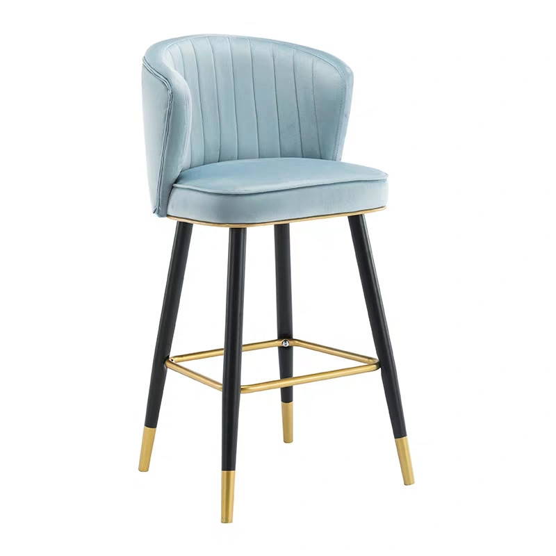 Bar Chair Light Luxury Postmodern Minimalist Hotel Front Desk High Chair Back Bar Stool Island Table Chair Height 55cm65cm