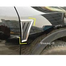 Для Honda hr-v HR-V Vezel автомобильный Стайлинг крышка лампы отделка ABS хром передняя сторона листва лист крыло вентиляционные отверстия выход 2 шт