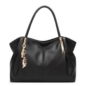 Image 3 - FUNMARDI Bolso de lujo de piel sintética con asa superior para mujer, bolso de hombro femenino, WLHB1778, 2020