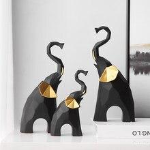 Nordic Style Home Decoration Accessories 3/pc Geometric Elephant Creative Figurines Office Desk Accessories Living Room Decor