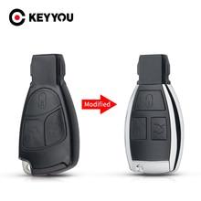 KEYYOU Car Key Shell For Mercedes Benz B C E ML S CLK CL Modified Replacement Smart Car Key Shell 3 Buttons