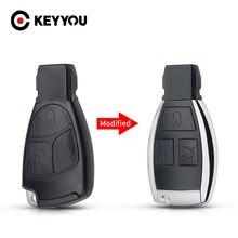 KEYYOU – coque de clé de voiture intelligente, 3 boutons, pour Mercedes Benz B C E ML S CLK CL, pièce de rechange modifiée