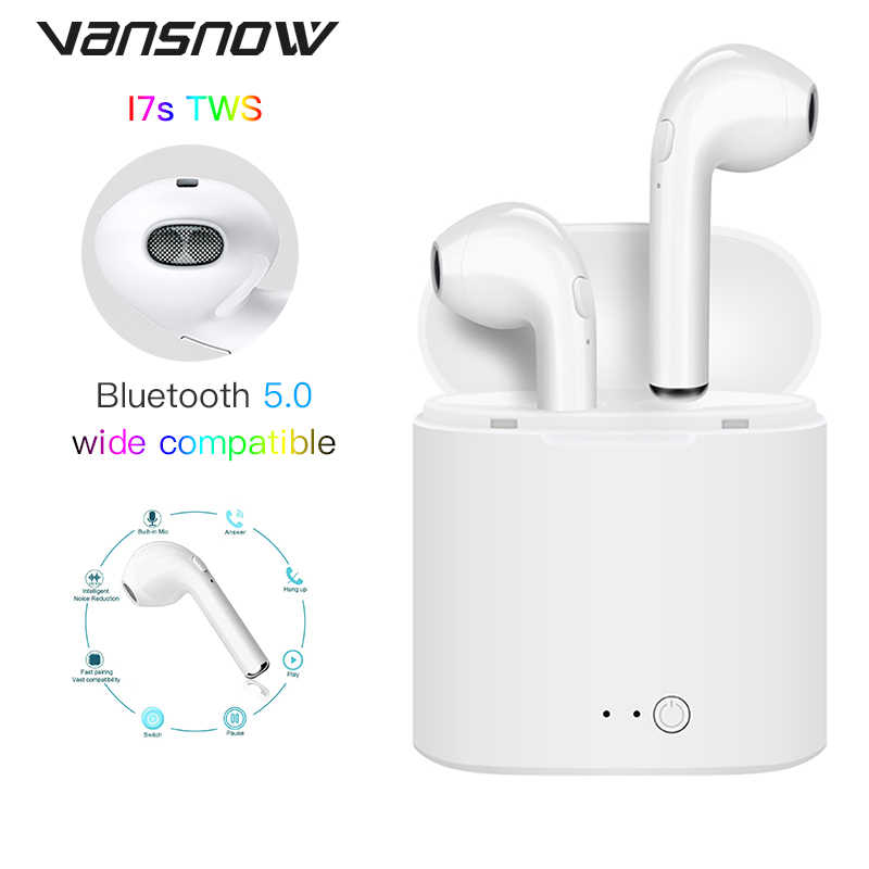 I7s Tws Bluetooth Earphones Mini Wireless Earbuds Sport HD-Stero Earphone Headset with Charging Box for Xiaomi IPhone Huawei