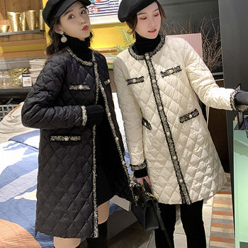 Women s Cotton -padded Clothes Winter New Korean Version of Thin Long Jacket WOMEN S