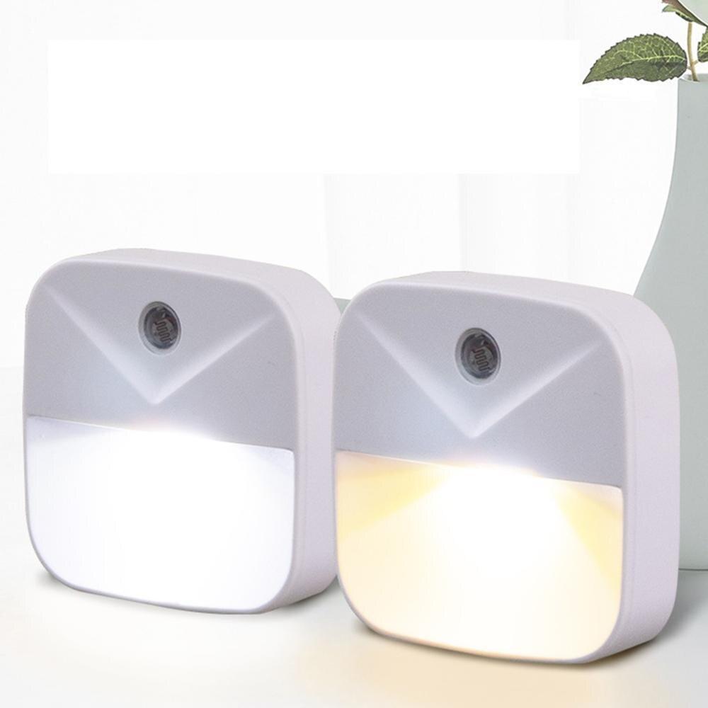 US Plug In LED Night Lightwith Sensor Wireless Energy Saving Lighting Children Living Room Bedroom Safe Convinent Night Lamp