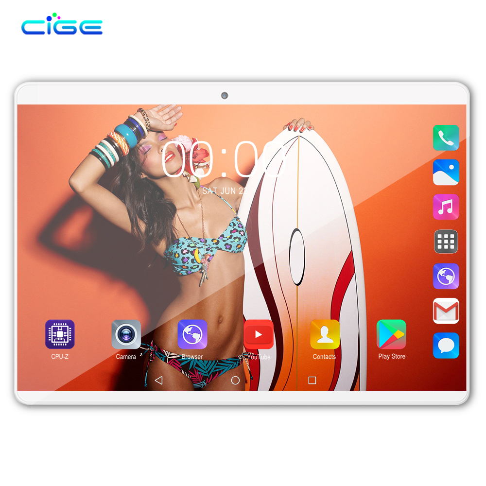 10.1 Inch Tablet PC Android 8.0 Google Play  Octa Core SIM 3G 4G LTE WIFI GPS RAM 6GB 64GB Tablets Double Sided 2.5D Glass Body
