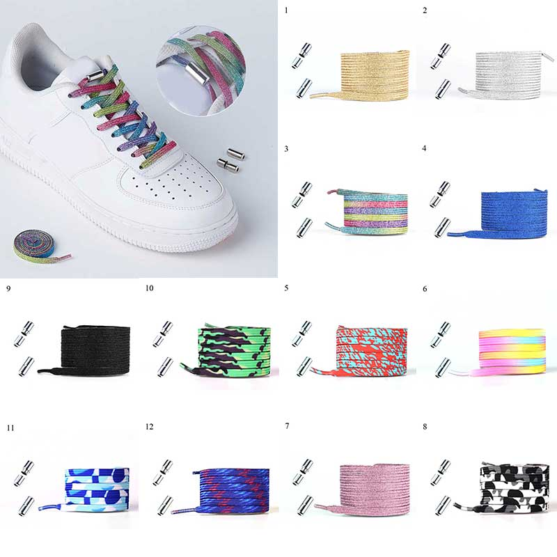 1 Pair New Shoelaces Elastic No Tie Shoe Laces Flat Locking Shoelace Kids Adult Sneakers Lazy Laces One Size Fits All Shoes