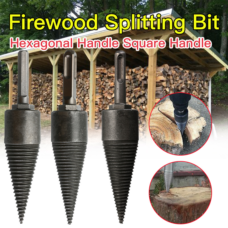 Drill Bit Chop Wood Splitting Tool Splitting Cone Log Splitters Wood Breaking Machine Wood Breaker Firewood Chopper