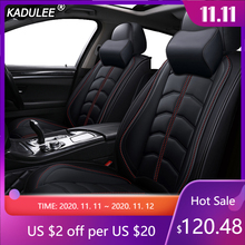 Чехлы для автомобильных сидений KADULEE, роскошные кожаные чехлы для Jeep Commander Compass Grand Cherokee Renegade Wrangler Jk, автомобильные аксессуары, автомобильный стиль