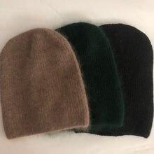 Повседневные новые зимние шапки одноцветные шерстяные теплые