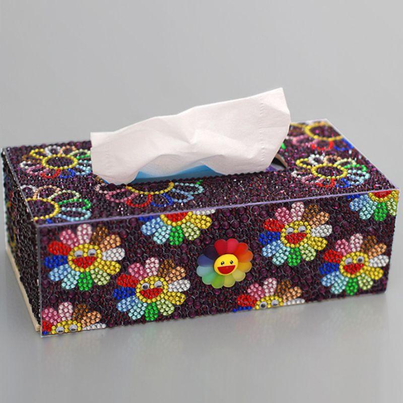 Купить с кэшбэком Special Shape Diamond Painting DIY Roll Tissue Box Jewelry Storage Cross Stitch Q6PE