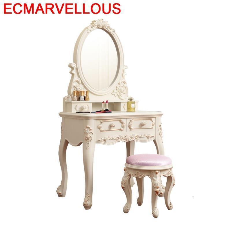 El Dormitorio Coiffeuse Avec Miroir Drawer Vanity Dresser Aparador Bedroom Furniture Penteadeira Korean Quarto Dressing Table