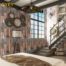10 m 3D American Retro Nostalgic Color Wood Grain Wallpaper PVC Chinese Restaurant Cafe Background Wall Retro Bar Wallpaper nostalgic retro brick wallpaper bedroom cafe bar restaurant background wall covering customized large mural seamless wallpaper