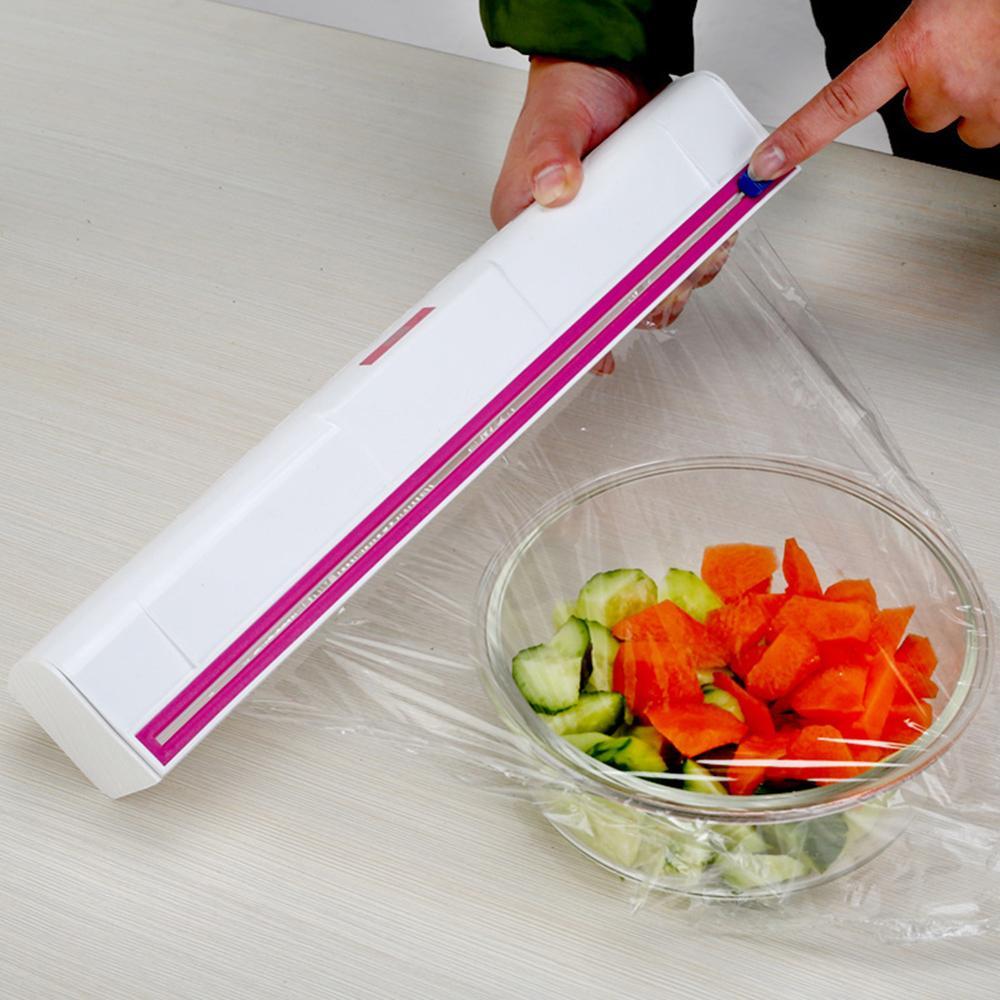 Household Cling Film Cutter Wrap, Anti-Corrosion Film Dispenser, Plastic Food Preservation Fresh Plastic Wrap Dispenser