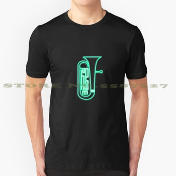 Neon Euphonium Summer Funny T Shirt For Men Women Music Musician Sound Band Orchestra Instrument Musical Hear Listen Play Song image