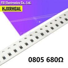 300 pces 0805 smd resistor 680 ohm 1/8 w 680r 681 original novo