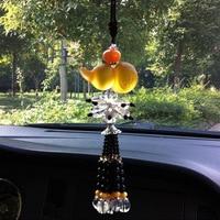 Auto Parfüm Anhänger Automobil Hängen Ornament Exquisite Auto Hängen Farbige Glasur Kürbis Anhänger Echtes Produkt|Ornamente|   -