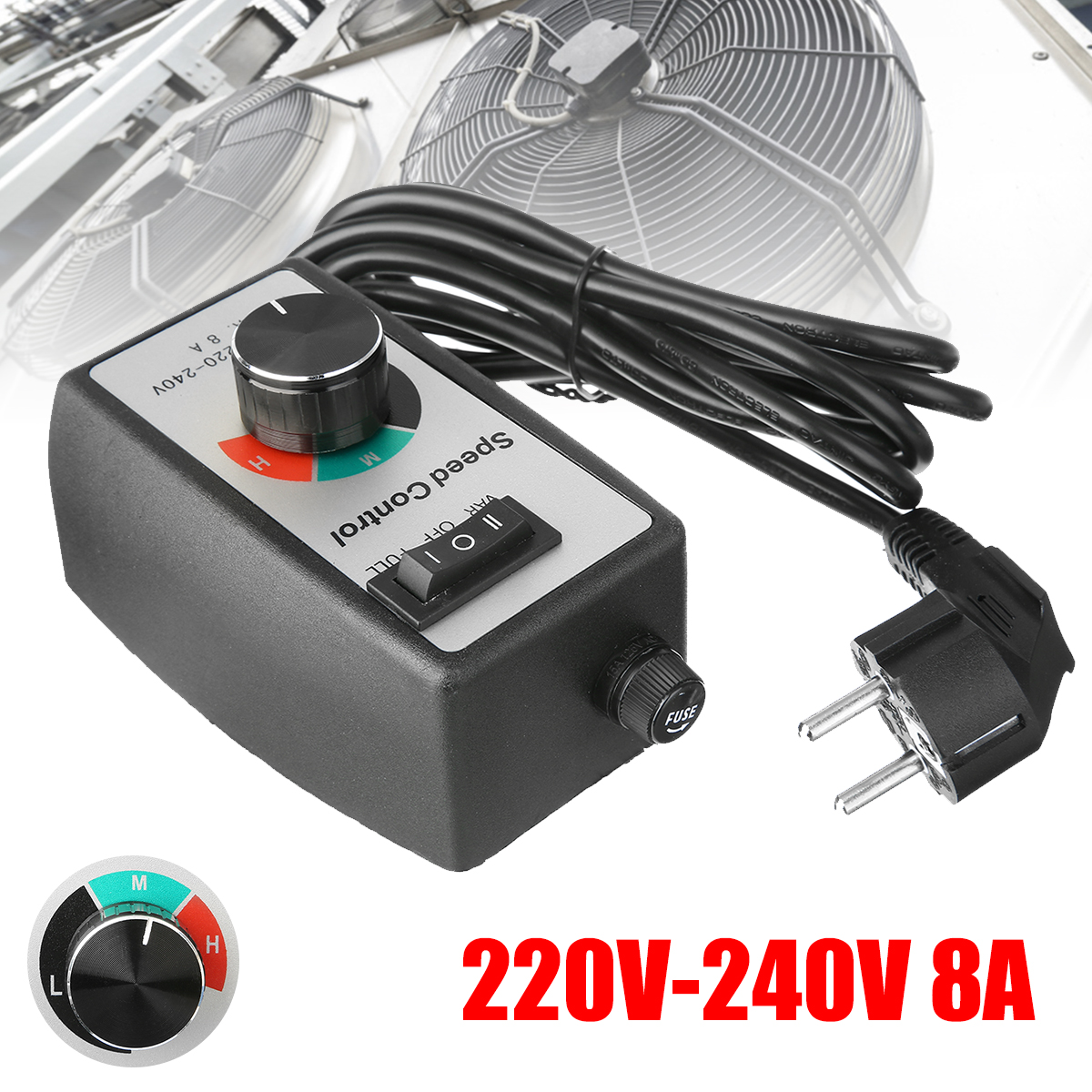 220-240V Router Speed Control Electric Motor Rheostat Variable Speed Lighting Fans Motor Controller Power Tools EU Plug