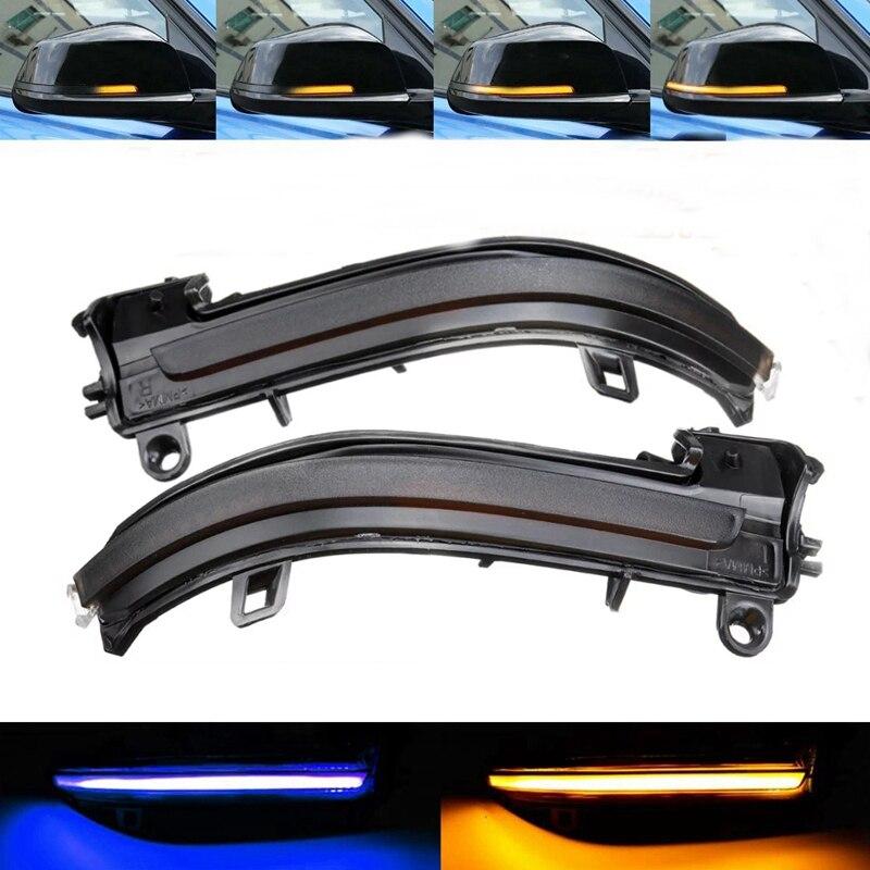Nuevo coche llevó luz para espejo retrovisor Indicador de luz intermitente para BMW F20 F21 F22 F30 E84 1, 2, 3, 4 Series ámbar y azul