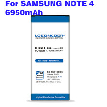 6950 mah EB-BN910BBU EB-BN910BBE nfc bateria para samsung nota 4 bateria note4 nfc n910h n910a n910c n910f n910w n910p n910t n910x