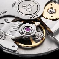 CADISEN Automatic Mechanical Watches Men Wrist Watch MIYOTA 9015 Top Brand Luxury Real Diamond Watch Curved Sapphire Glass Clock