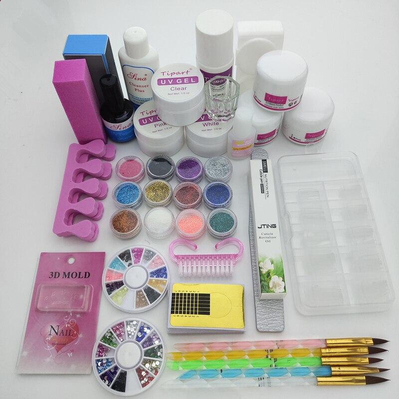 Acrylic Nail Kit Manicure Pedicure Tools Set Nail Set UV Gel Nail Art Tools Acrylic Powder Manicure Tools Set Kits
