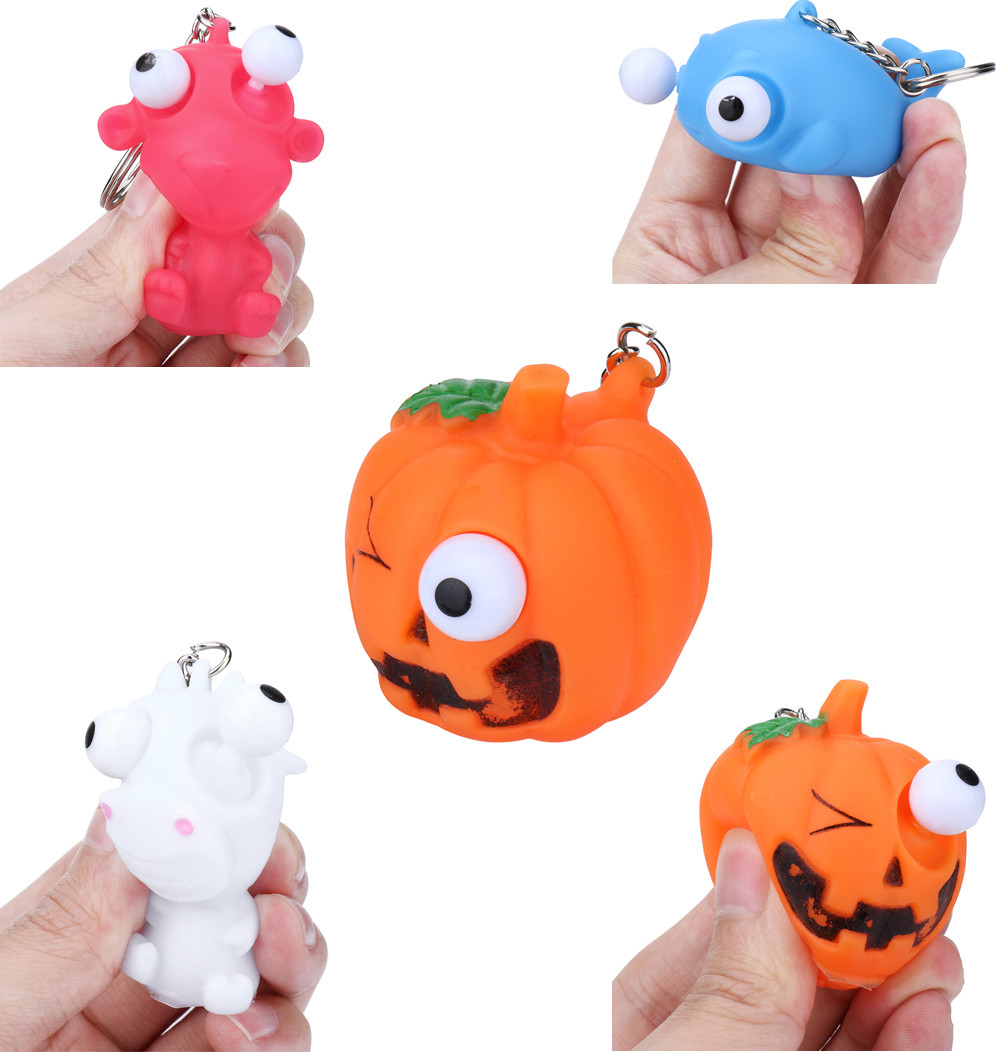 Hot Sale Squishy Vomitive Pumpkin Anti Stress Reliever Fun Gift Lazy Egg Joke Toy Ball Egg Squeeze Funny Toys AntiStress @A