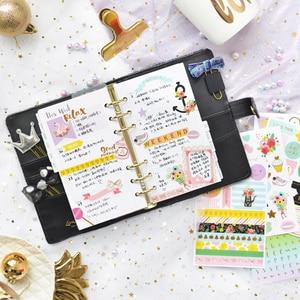 Image 5 - Lovedoki Sequins Series Binder Notebook 2021 A6 Korean Cute Spiral Planner Organizer Personal Diary Book School Stationery