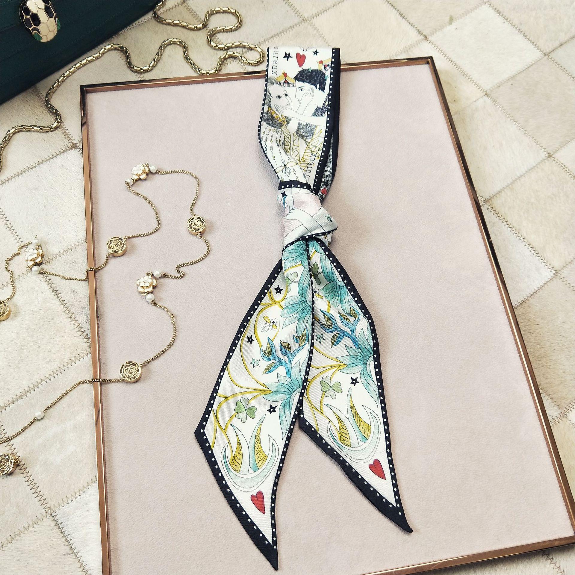 Hot Sale Small Square Satin Hair Scarf Women Silk Scarfs Foulard Bandana Elegant Ladies Wrap Handkerchief Accessories 2020 New