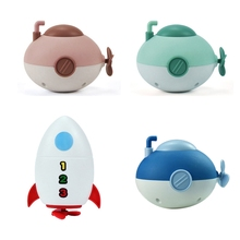 Clockwork Toys Bathtub Swim-Chain Wind-Up Baby Infant Rocket for Boys Girls 4PCS Little-Submarine