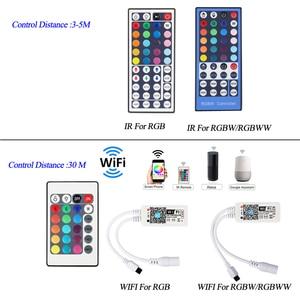 Image 3 - 5050 LED 스트립 WIFI RGB RGBW RGBWW 5M 10M 15M RGB Led 색상 변경 가능한 유연한 LED 스트립 빛 + WIFI 원격 컨트롤러 + 전원