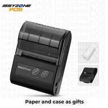 Issyzone Bluetooth Printer Barcode Handheld Thermal Receipt 58mm Printer For Android iOS Protable Print Logo Supermarket Retail(China)