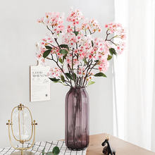 Xuanxiaotong 100cm Long Apple Blossom Artificial Flower Branches for Home Decoration Family Christmas Party Decor
