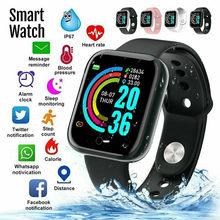 High-end relógio inteligente y68 à prova dwaterproof água rastreador de freqüência cardíaca-pulseira de fitness para ios android moda multi-funcional smartwatch # l35