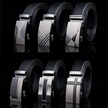 Famous Brand Belt New Male Designer Automatic Buckle Cowhide Leather Men Belt 110cm-150cm Luxury Belts For Men Ceinture Homme