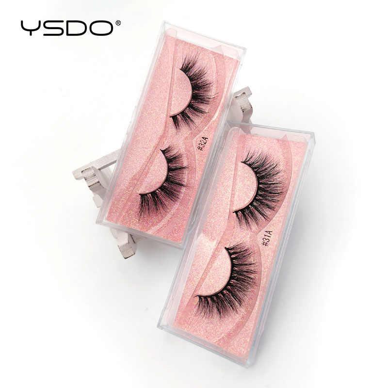 YSDO 1 Paar 3D Nerz Wimpern Natürliche Haar Langen Wimpern winged Wimpern Dramatische Wimpern Dicke Nerz Falsche Wimpern Flauschige Wimpern