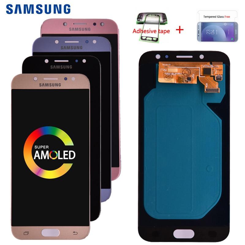 Original Super Amoled For Samsung Galaxy J7 Pro 2017 J730 J730F LCD Display and Touch Screen Original Super Amoled For Samsung Galaxy J7 Pro 2017 J730 J730F LCD Display and Touch Screen Digitizer Assembly free shipping
