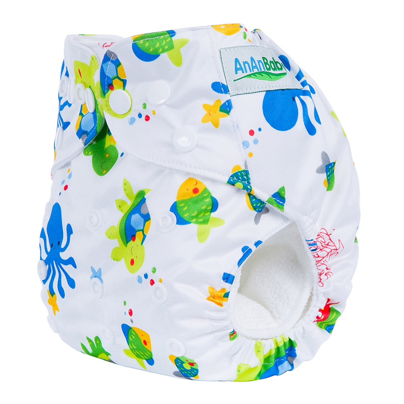 50Pcs/Lot Machine Print All In One China Organic Cloth Diapers With Insert Suit 3-15KG And You Can Choose A Suit