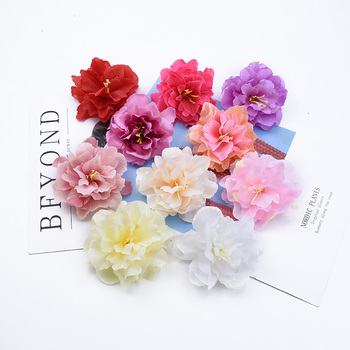 2/5/20 Pieces Stamen Peony head wedding decorative flowers wall scrapbooking christmas decorations for home artificial flowers image