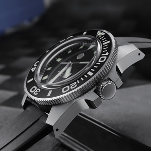 Image 3 - סן מרטין Diver NH35 ספיר קריסטל גברים אוטומטי מכאני שעונים 120 קליקים קרמיקה לוח 30Bar BGW9 זוהר תאריך חלון