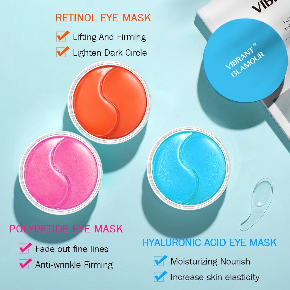 VIBRANT GLAMOUR Eye Mask Moisturizing Hyaluronic Acid Eye Patch Skin Care Collagen Anti Aging Gel Remove Dark Circles Eye Bag-3