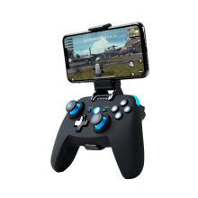 Bluetooth inalámbrico controlador Joypad juego Joystick para tableta teléfono inteligente Android TV BOX PS3 PC Gamepad con telescópica(China)