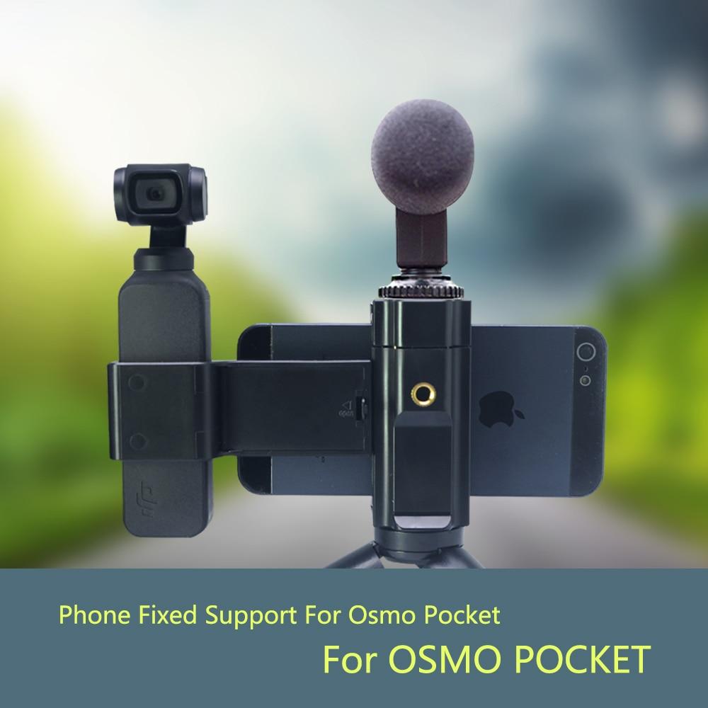 Mobile Phone Securing Clip Bracket Mount Desktop Tripod for DJI Osmo Pocket Phone Clip Holder Handheld Gimbal Camera Accessories