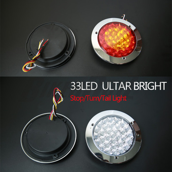 33 LED ULTRA BRIGHT Car Truck Trailer Lorry Brake Stop Turn Tail Light Lamp Two-color edge lights Tail Lights Car Accessories