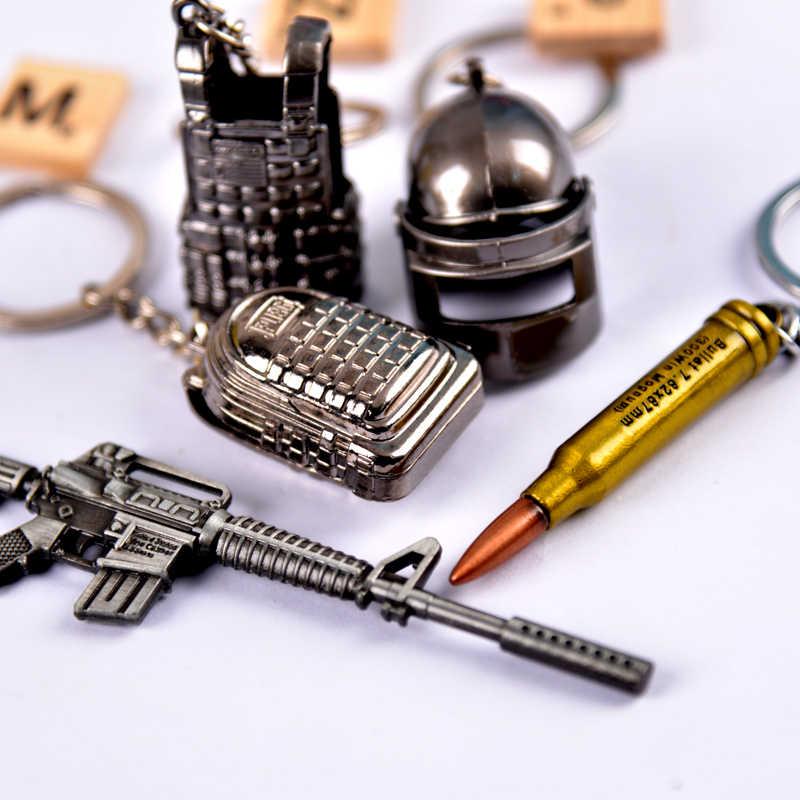 Vicney juego de tiro PUBG llavero francotirador/Rifle/cicatriz/Ak47/98 k llavero genial para hombres llaveros de arma regalos de novio para niños