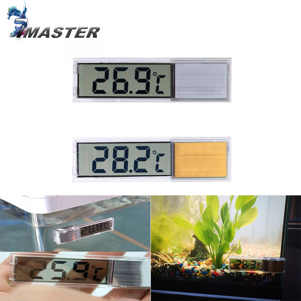 Aquarium Thermometer New Multi-Functional LCD 3D Digital Electronic Temperature Measurement Fish Tank Temp Meter